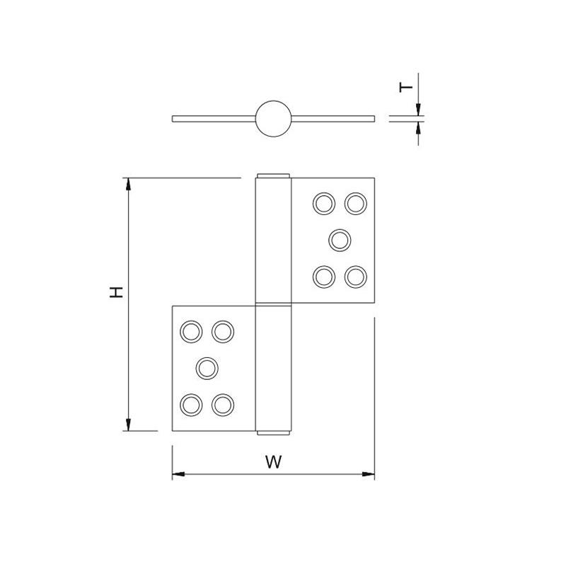 Thông số kỹ thuật bản lề lá cờ ssh-l4 Lawrence
