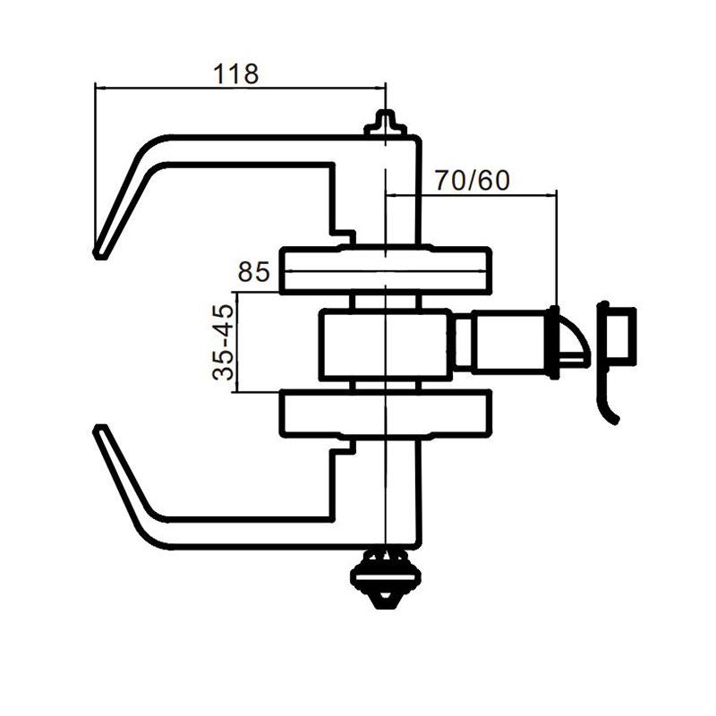 Thông số kỹ thuật khóa tay gạt Lawrence LH5300L