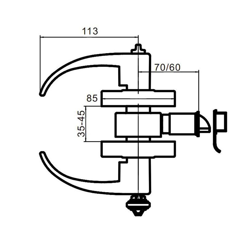 Thông số kỹ thuật khóa tay gạt Lawrence LH5300R