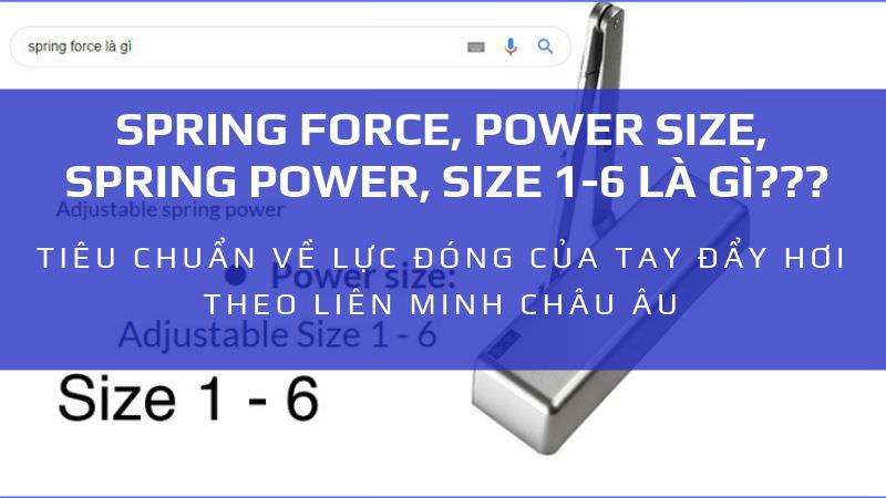 spring force, power size, size 1-6, spring power là gì