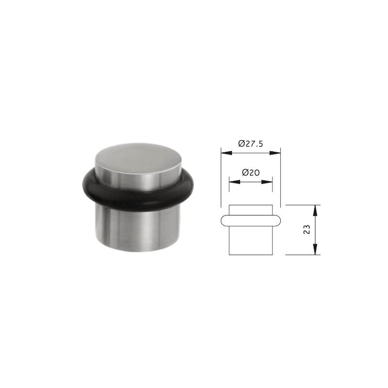 Thông số kỹ thuật chặn cửa cao su lắp sàn Lawrence DS025