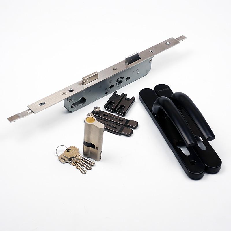 bộ khóa đa điểm cửa nhôm ban công đầu chìa đầu bịt lawrence