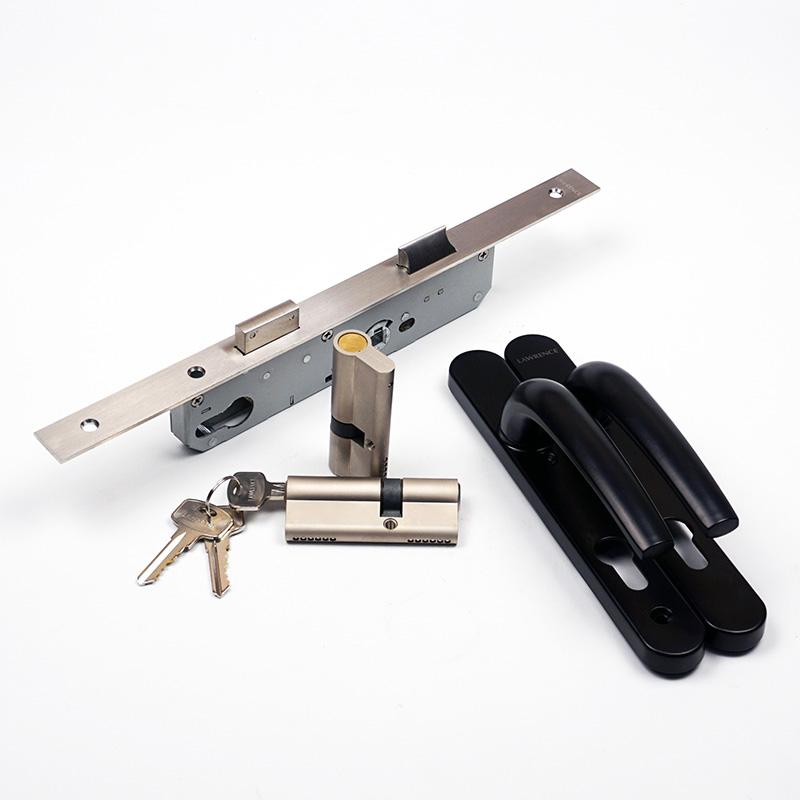 bộ khóa đơn điểm cửa nhôm ban công đầu chìa đầu bịt lawrence